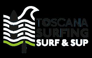 Toscana Surfing - Surf & Sup - Logo scritta nera